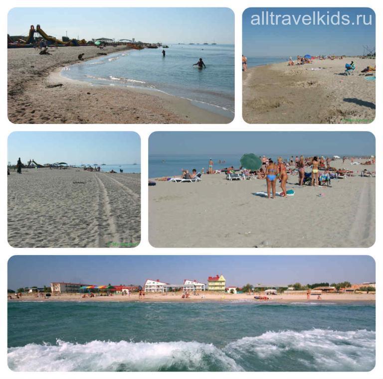пляжи Поповки и Мирного Крым