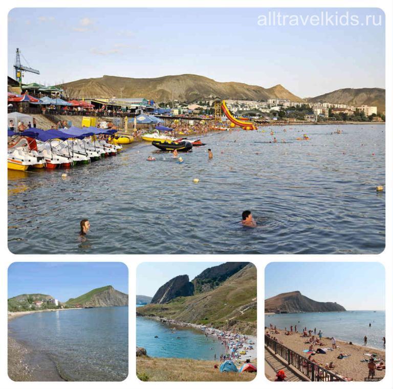 Пляжи послека Орджиникидзе Крым