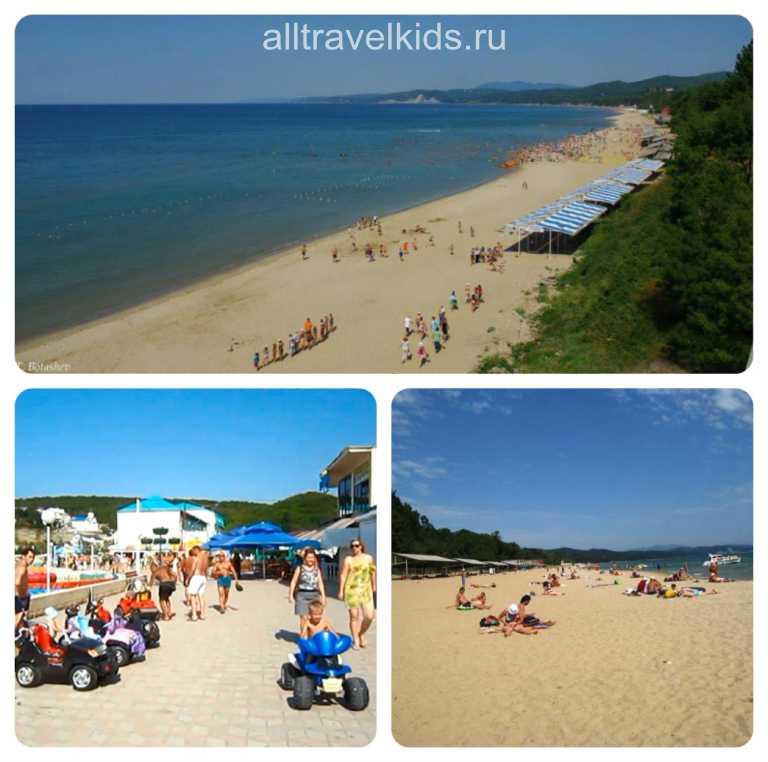 посёлок Пляхо с желтыми песчаными пляжами