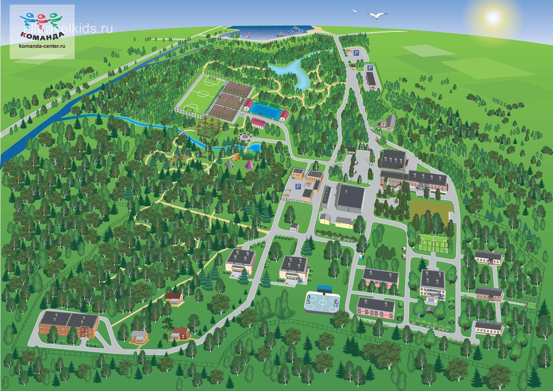 Карта лагеря Команда в Подмосковье