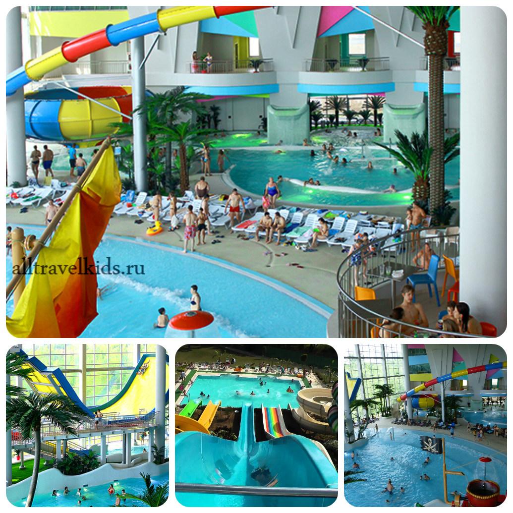 Развлекательные сектора аквапарка Мореон