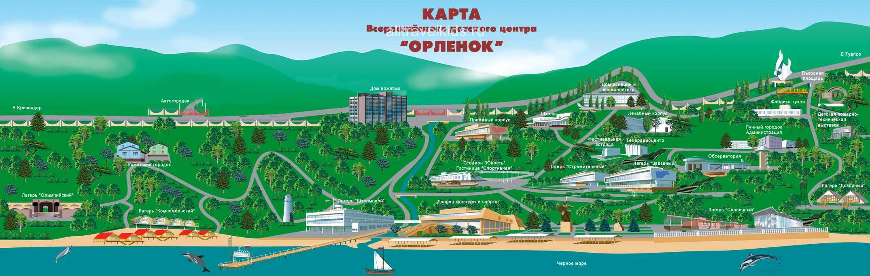 Карат объектов лагеря Орленок
